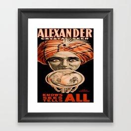 Vintage poster - Alexander, Crystal Seer Framed Art Print