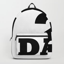 Dad 2 Children Funny Father Day Gift Backpack