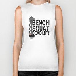 1000 Pounds Bench Squat Deadlift Powerlift Club Fitness Bodybuilder Bodybuilding Biker Tank