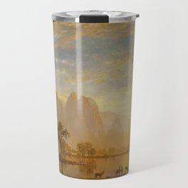 VALLEY OF THE YOSEMITE - ALBERT BIERSTADT Travel Mug