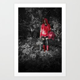 red riding hoodie Art Print