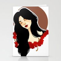 belle Stationery Cards featuring belle by chazstity
