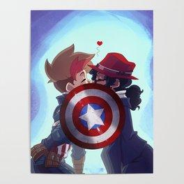 Captain & Carter Cosplay Poster