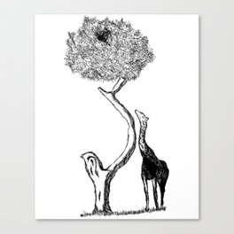 A Giraffe and His Dinner Canvas Print