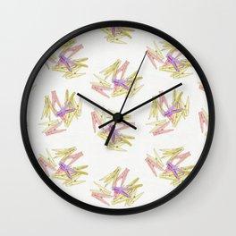 Сlothespins Wall Clock
