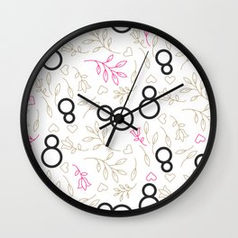 Womens day line style Wall Clock