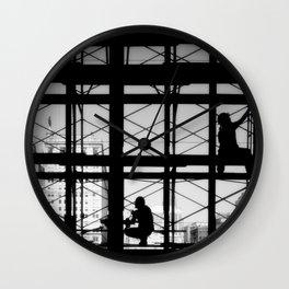 Restoration work on Reading Terminal Wall Clock