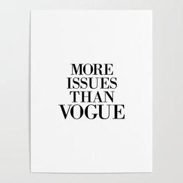 fashion quote, home decor Poster