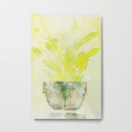 Yellow Flower in a Vase Metal Print