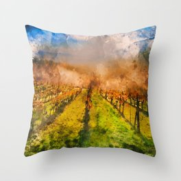 Hills of Tuscany Throw Pillow