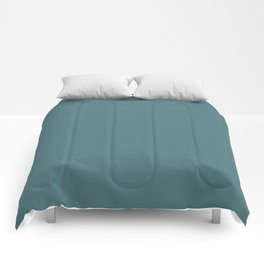 Solid Dark Beetle Green Color Comforters