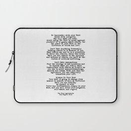 The Four Agreements #minimalist 3 Laptop Sleeve