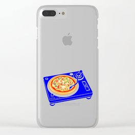 Pizza Scratch Clear iPhone Case