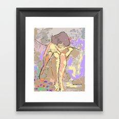 Desnudo en el sillón Framed Art Print