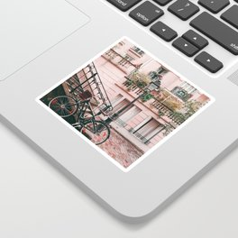 Bike in Paris Pink City Photography  Sticker