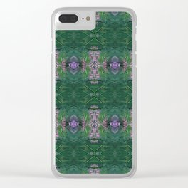 Pink and Green crosses Clear iPhone Case