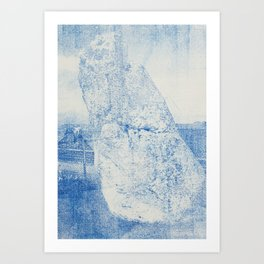 Gum arabic print of rock Art Print