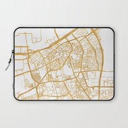 MANAMA BAHRAIN CITY STREET MAP ART Laptop Sleeve