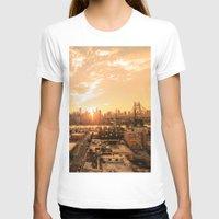new york skyline T-shirts featuring New York City Skyline by Vivienne Gucwa