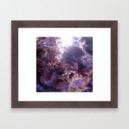 Purple Nebula Framed Art Print