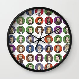 Portraits of Important Scientists Wall Clock