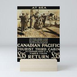 Old A Fine Holiday at Sea Mini Art Print