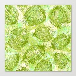 Verde que te quiero Verde Canvas Print