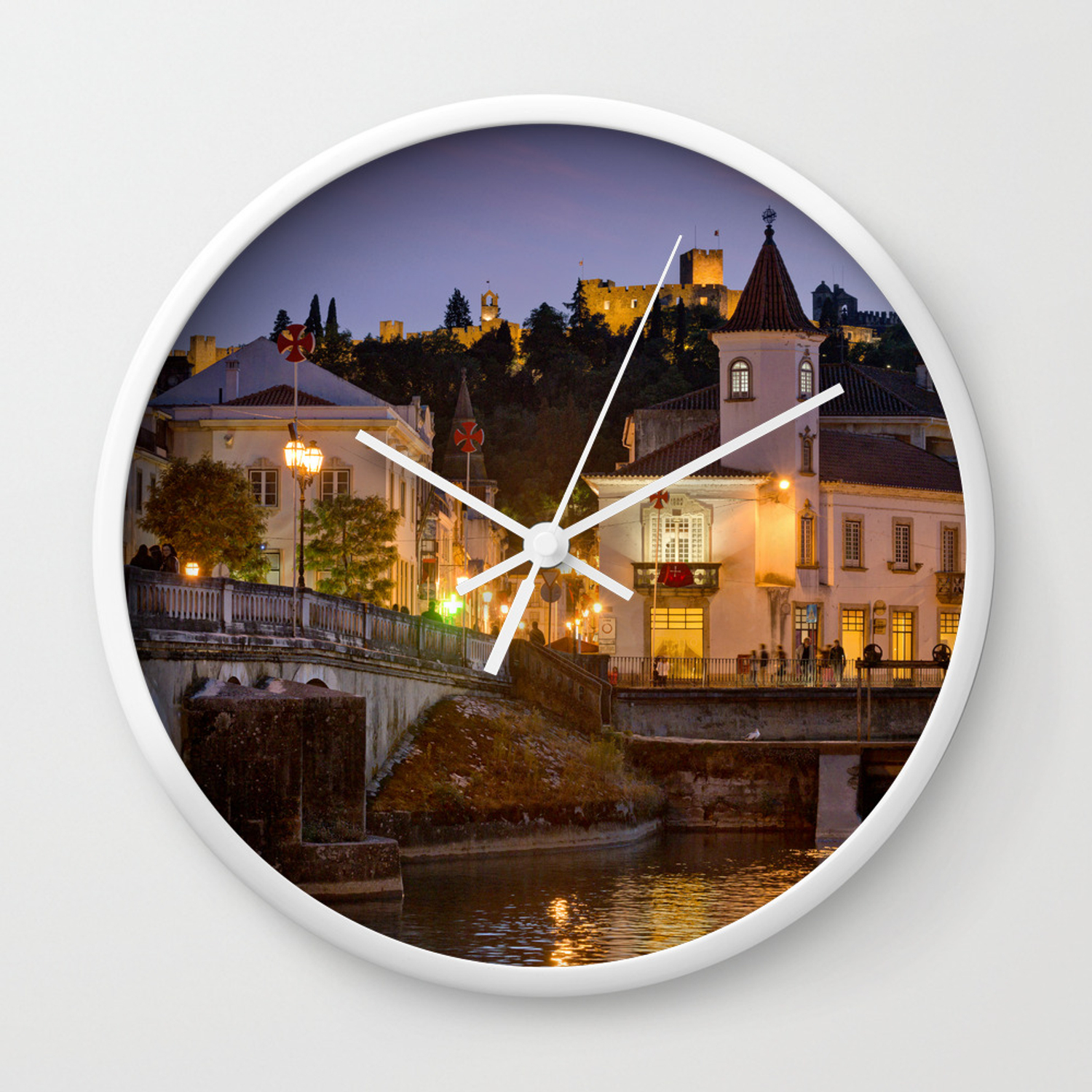 Tomar Town Centre Portugal Wall Clock