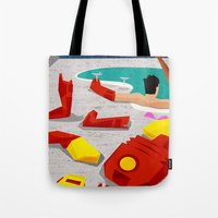 mod Tote Bags featuring Iron-Mod by modHero