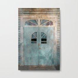 Sunbright Church Door Metal Print