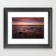 November dawn. Wells-next-the-sea, Norfolk, UK. Framed Art Print