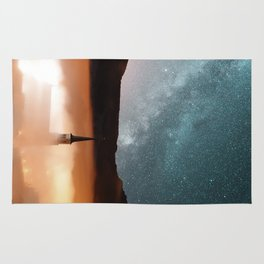 starlights and towers Rug