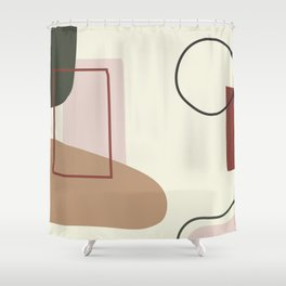 live with love - on ebony backgroung Shower Curtain