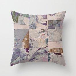 Iceberg of debris Throw Pillow