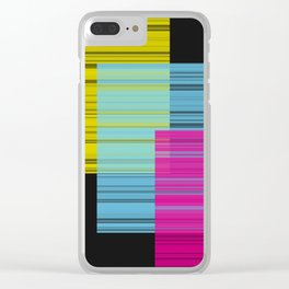 Block Color Transparancy Clear iPhone Case