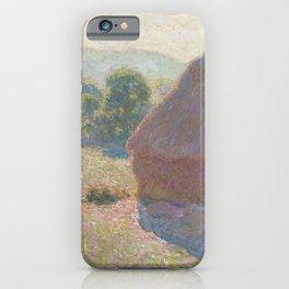 Haystacks, Midday by Claude Monet iPhone Case