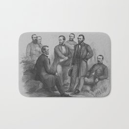 President Lincoln and His Commanders Bath Mat