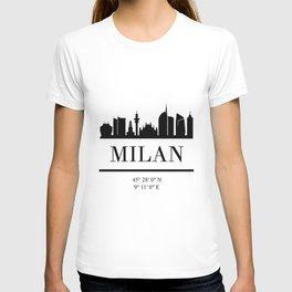 MILAN ITALY BLACK SILHOUETTE SKYLINE ART T-shirt