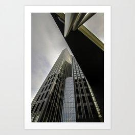 Maastoren Rotterdam Collor Art Print