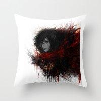 snk Throw Pillows featuring Ackerman  by ururuty