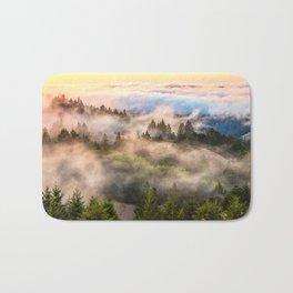 Coastal Fog Over Mount Tamalpais Bath Mat