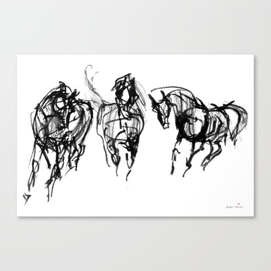 Horses (Trio) Canvas Print