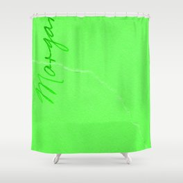 Neon Sea Marble Shower Curtain