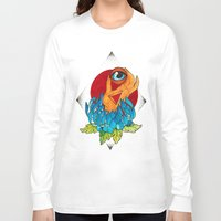 hamsa Long Sleeve T-shirts featuring Hamsa by missfortunetattoo