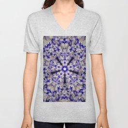Feathery Floral Mandala Unisex V-Neck