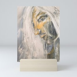 The Skies Wept, the girl with silver hair Mini Art Print
