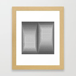 Binary Rooms Framed Art Print