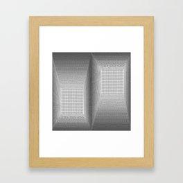 Binary Rooms Framed Art Print