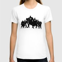 justice league T-shirts featuring Justice League Silhouette by iankingart