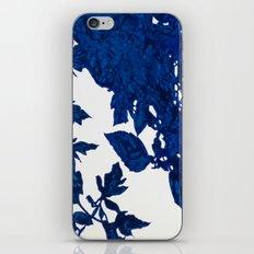 Royal Blue Leaves iPhone & iPod Skin